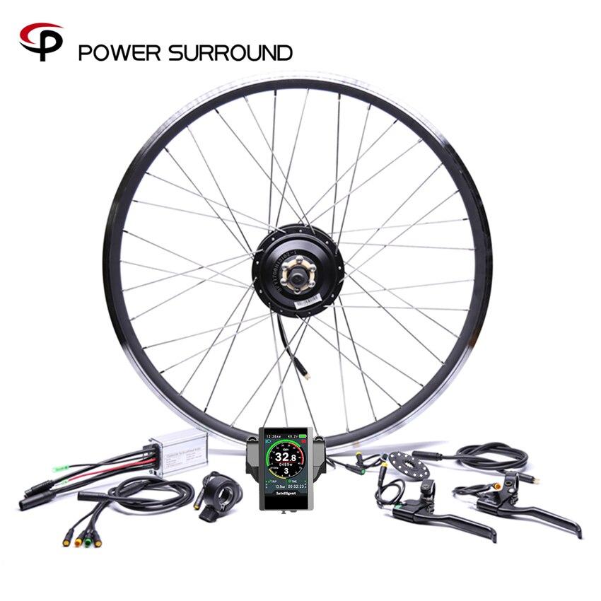 Farbe display Wasserdichte 48v500w Bafang Vorne/hinten Elektrische Bike Conversion Kit Bürstenlosen Hub Motor rad