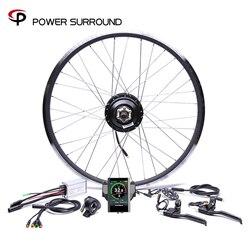 Kolorowy wyświetlacz wodoodporny 48v500w Bafang przód/tył zestaw do konwersji roweru elektrycznego bezszczotkowy silnik piasty koła