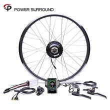 Renkli ekran su geçirmez 48v500w Bafang ön/arka elektrikli bisiklet dönüşüm kiti fırçasız göbek motoru tekerlek