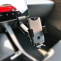 Qi Automatic Mobile Phone Wireless Charger Infrared Accessories Center Console Auto Fast Charging Holder 15W for Tesla Model 3 Y