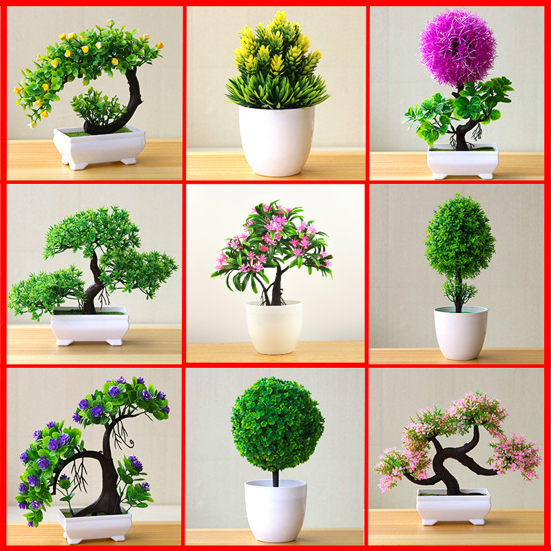 Artificial Plants Bonsai Simulation Plastic Small Tree Pot Plant Potted Ornaments For Home Table Garden Decor Photograph Props