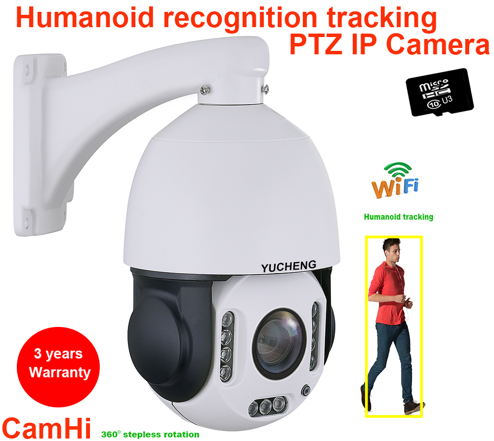 CamHi Wireless 5MP 20X Zoom 4MP Humanoid Auto Track SONY IMX 335 PTZ Speed Dome  IP Camera Build MIC  Speaker 32 64 128gb SD