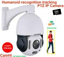 CamHi bezprzewodowy 5MP 30X zoom 4MP humanoidalny automatyczny utwór SONY IMX 335 PTZ prędkość kamera IP kopułkowa zbuduj mikrofon głośnik 32 64 128gb SD