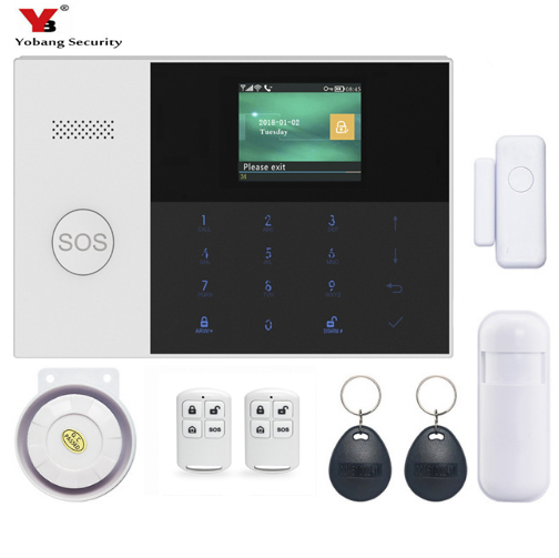 Yobang Security APP Control WIFI GSM Home Burglar Alarm Security APP Remote Control PIR Motion Detection Magnetic Door Alarm Kit