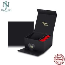 INALIS wysokiej klasy czarne pudełka na biżuterię naszyjnik drobne upominki schowek papier plastikowy Organizer biżuterii pierścień wyświetlacz zroszony kolczyk tanie tanio CN (pochodzenie) Jewelry Boxes LPA110 12 5cm 13 5cm Opakowanie i wyświetlacz biżuterii Pudełka na prezenty Z tworzywa sztucznego