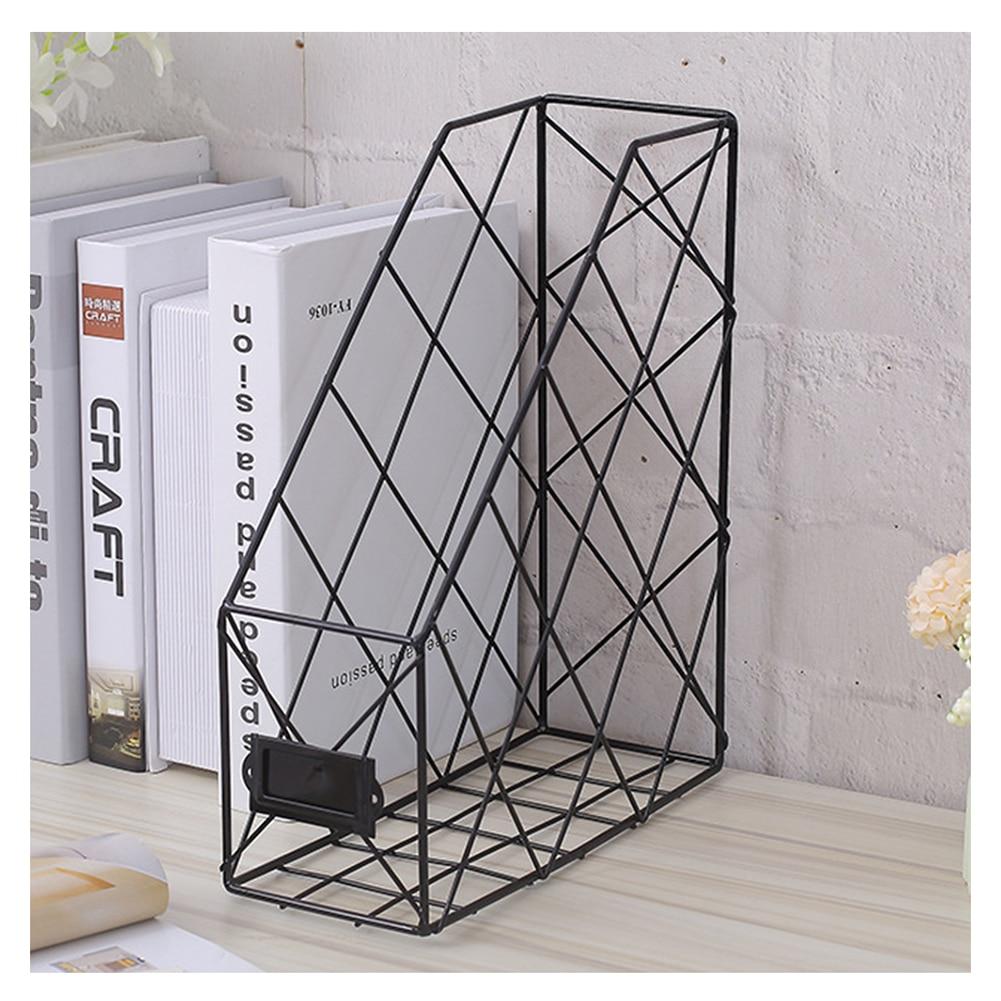 Нордическая книжная подставка для папок железная настольная многослойная стойка для журналов стойка для хранения косметики AS99 - Цвет: Single layer