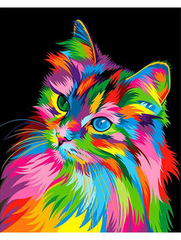 DIY 5D Diamond Painting Animal Lion Cat Cross Stitch Kit Full Drill Embroidery Mosaic Art Picture of Rhinestones Home Decor Gift 24