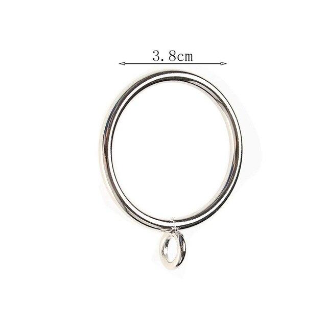 40 Pack Curtain Rings, 38mm Internal Diameter iron Curtains Rings Hanging Rings for Curtains and Rods, Silver