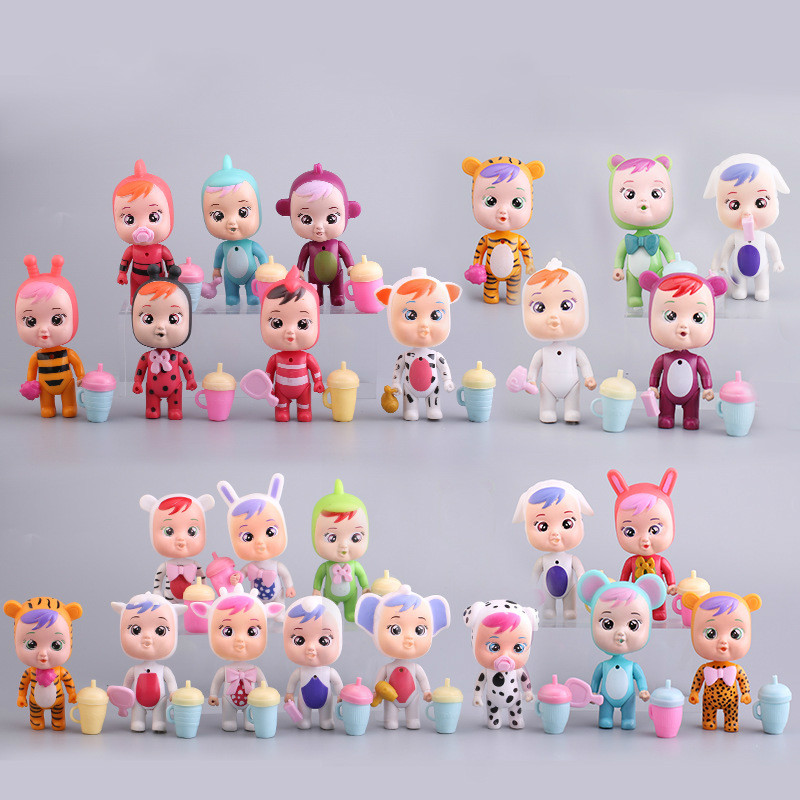 4pcs Cry Babies Dolls LOLs Unicorn Baby Boy Girl Toys Children Doll It Will Shed Tears Birthday Gift For Children