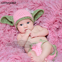 Новорожденный ребенок фотография�реквизит косплеер Звездные войны�сайт Fotografia младенцы Ропа фотография костюмы ручной работы�вязание 0-3М фотографии