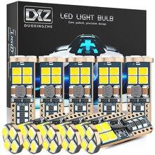 Dxz 10 pces canbus w5w t10 lâmpadas led 12-smd 12v/24v 6500k branco 194 168 carro interior mapa dome luzes estacionamento luz auto lâmpada 4w