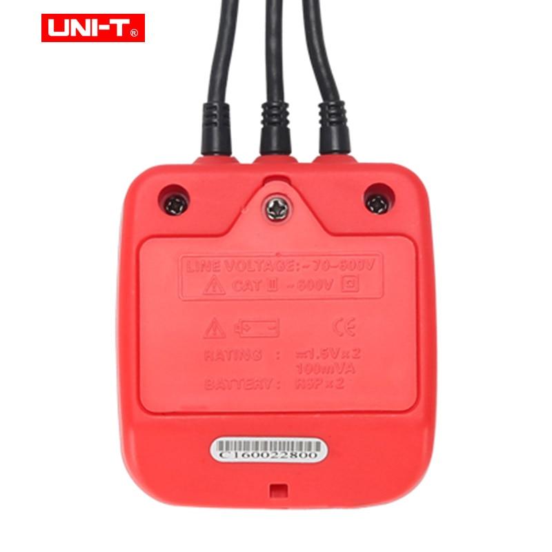 Бесконтактный 3 фазовый детектор UNI-T UT262A UT262C; живой провод обнаружения; фаза identipcation; не хватает-фаза решение измеритель напряжения переменного тока