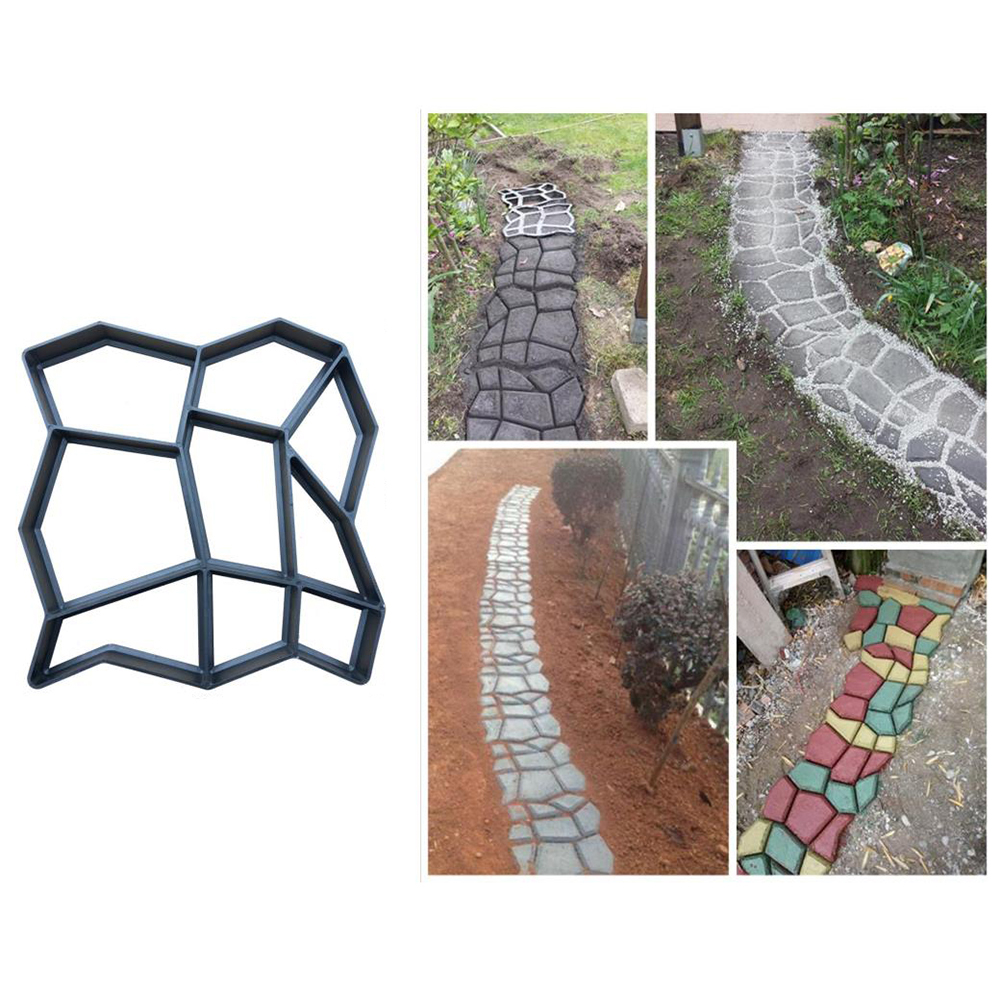 cheapest Plastic Floor Concrete Molds DIY Garden Floor Tile Paving Mould Floor Walk Maker Path Maker Mold Paving Stone Concrete Mold