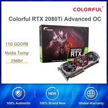 Цветная графическая карта RTX 2080Ti Advanced OC 2080 ti 11G Nvidia Turing GPU GDDR6 1635MHz для ПК Игр видеокарты GeForce