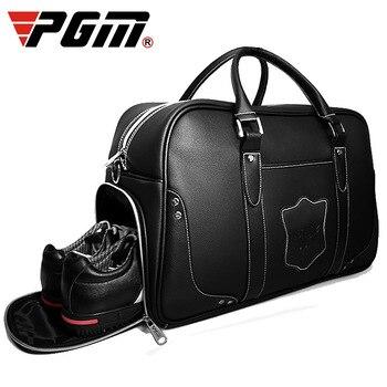 1 pcs Golf Clothing Bag PGM men's motion portable bag Built-in shoes bag Large Capacity Leather YWB021
