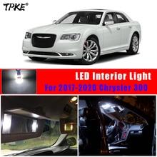 TPKE 13 sztuk zestaw LED białe światła wnętrza licencji dla 2017 2020 Chrysler 300 mapa Dome Trunk Glove Box Light