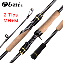 Obei Elf Casting Spinning Fishing Rod 2.1/ 2.4m M/MH Travel Street Bait 2tips Fast Rod Vara De Pesca 13-39g Fishing Rod