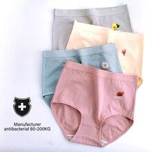 Sexy Panties Women Underwear Ladies Briefs High-Waist Large-Size Breathable Pure Cotton