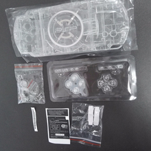 لون شفاف واضح ل PSP3000 PSP 2000 3000 شل لعبة وحدة التحكم استبدال غطاء الإسكان الكامل مع أزرار