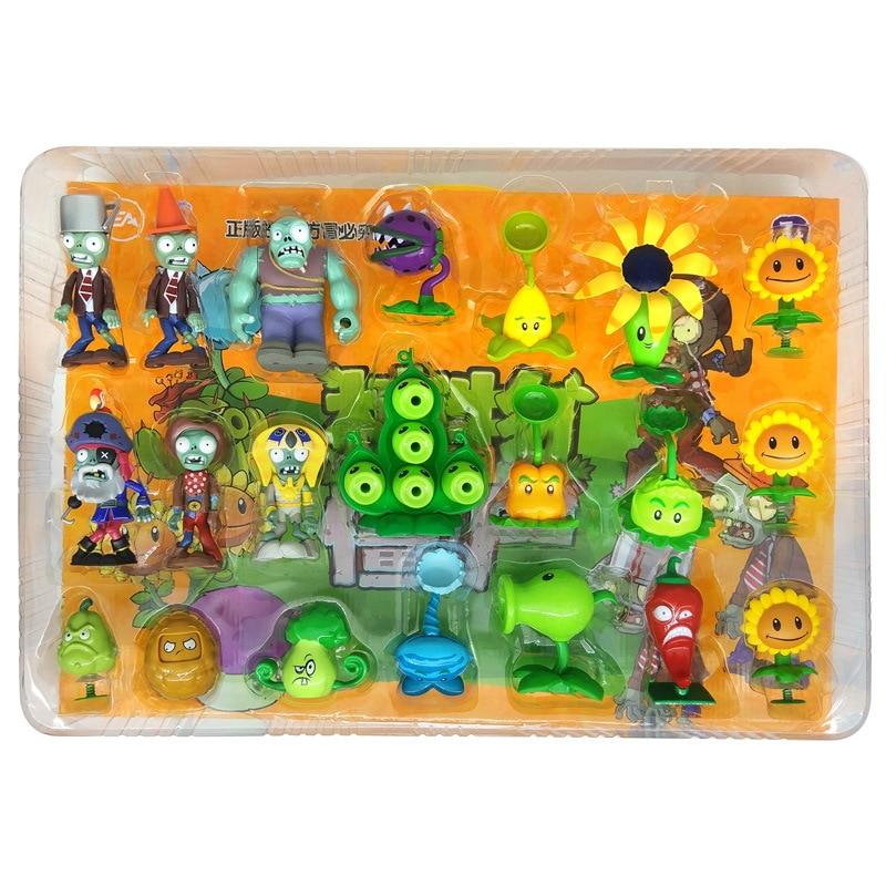 New 21 Piece Set 686-51 Plants Vs. Zombie Toy Set Without Box