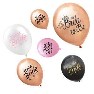 10pcs Team Bride Latex Balloons Hen Party Bride to Be Balloon Decor Bridal Shower Bachelorette Party Decoration Supplies SPA88