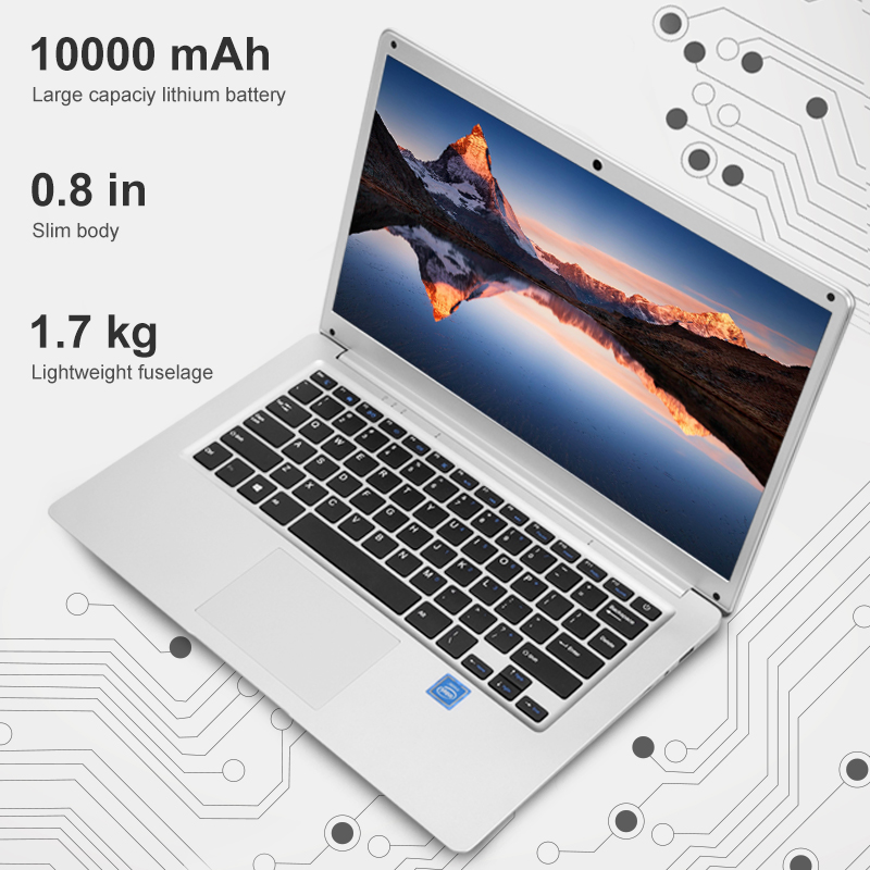 Image 2 - 14.1 Inch Laptop 2GB RAM 32GB Student Notebook Intel Atom X5 Z8350 Quad Core Windows 10  Notebook BT4.0 with HDMI Port-in Laptops from Computer & Office