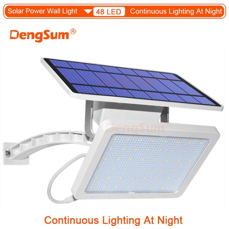 Image 5 - 65 Leds Solar Power Lamp With Rremote Control12W Spotlight Wireless Outdoor WaterproofGarden 48LEDs Solar Energy Street Light-in Solar Lamps from Lights & Lighting