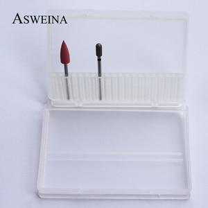 Image 5 - Пластиковые прозрачные сверла для ногтей ASWEINA, 1 шт., 20 отверстий, акриловая коробка, стенд контейнер для демонстрации сверл 3/32 дюйма, инструмент для демонстрации сверл