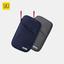 90FUN Multi-function Passport Holder Business Bags For Men Women Nylon Waterproof Card ID Credit