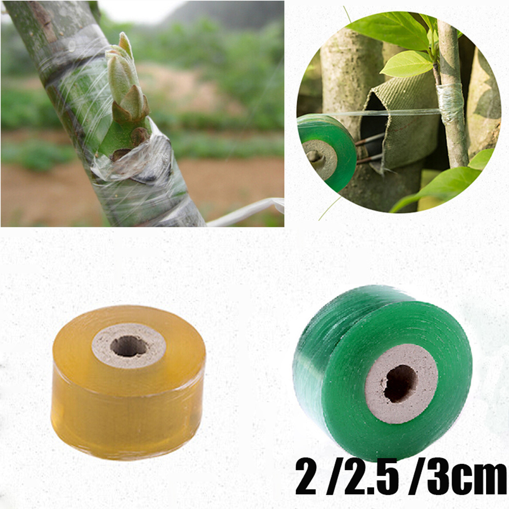 2/2.5/3CM X 100M / 1 Roll Grafting Tape Garden Tools Fruit Tree Secateurs Engraft Branch Gardening Bind Belt PVC Tie Tape
