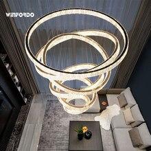 2021 cristal Led moderne Lustre Éclairage Lampe Pendante Lumière D'escalier Pour La Décoration À La Maison De Luxe Foyer Appareils D'éclairage