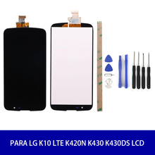 For LG K10 LTE K420N K430 K430DS  LCD Display with Touch Screen Digitizer Assembly with frame Free shipping 10pcs lots for lg optimus g2 d802 lcd display touch screen digitizer assembly with frame black white colors free shipping