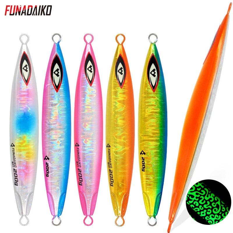 FUNADAIKO Artificial Bait Metal Lure Jigging Lure Fish Lure Bait Slow Fall Jig Fishing Jig 200g 300g 400g Metal Bait Lure Jig