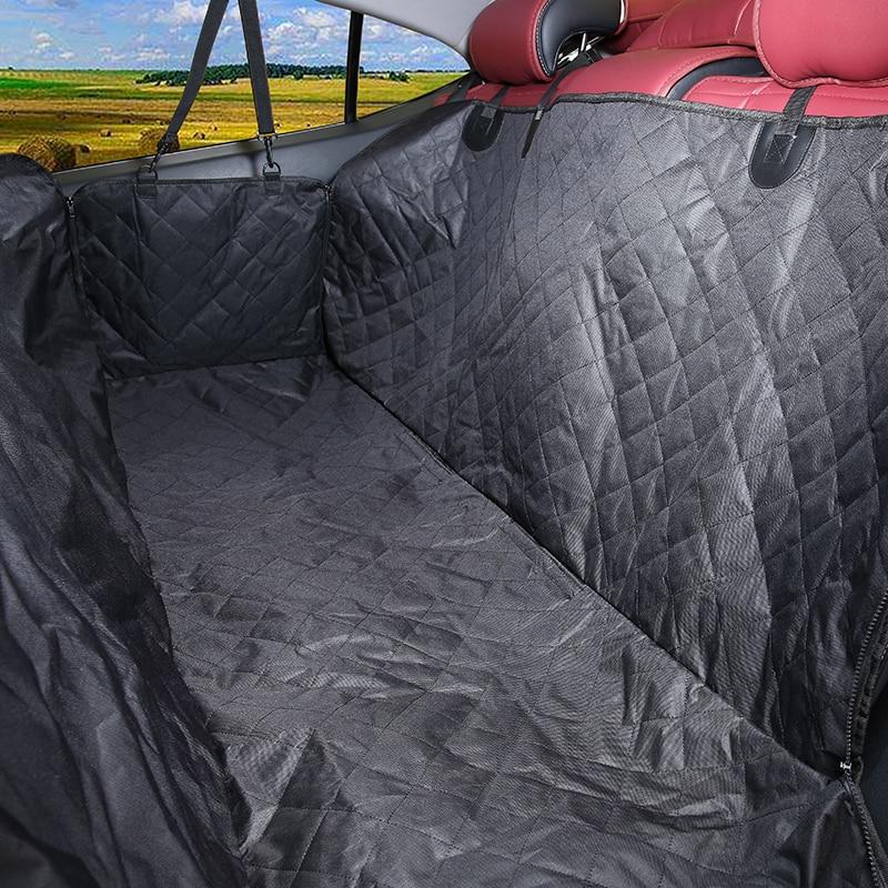 Porte-chiens imperméable à l'eau arrière pour animaux de compagnie chien couverture de siège de voiture chiot hamac pliable protecteur coussin tapis de sécurité ceinture fournitures