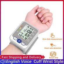Manşet bilek kan basıncı monitörü dijital kan basıncı ölçer kalp hızı darbe taşınabilir tansiyon aleti tonometre