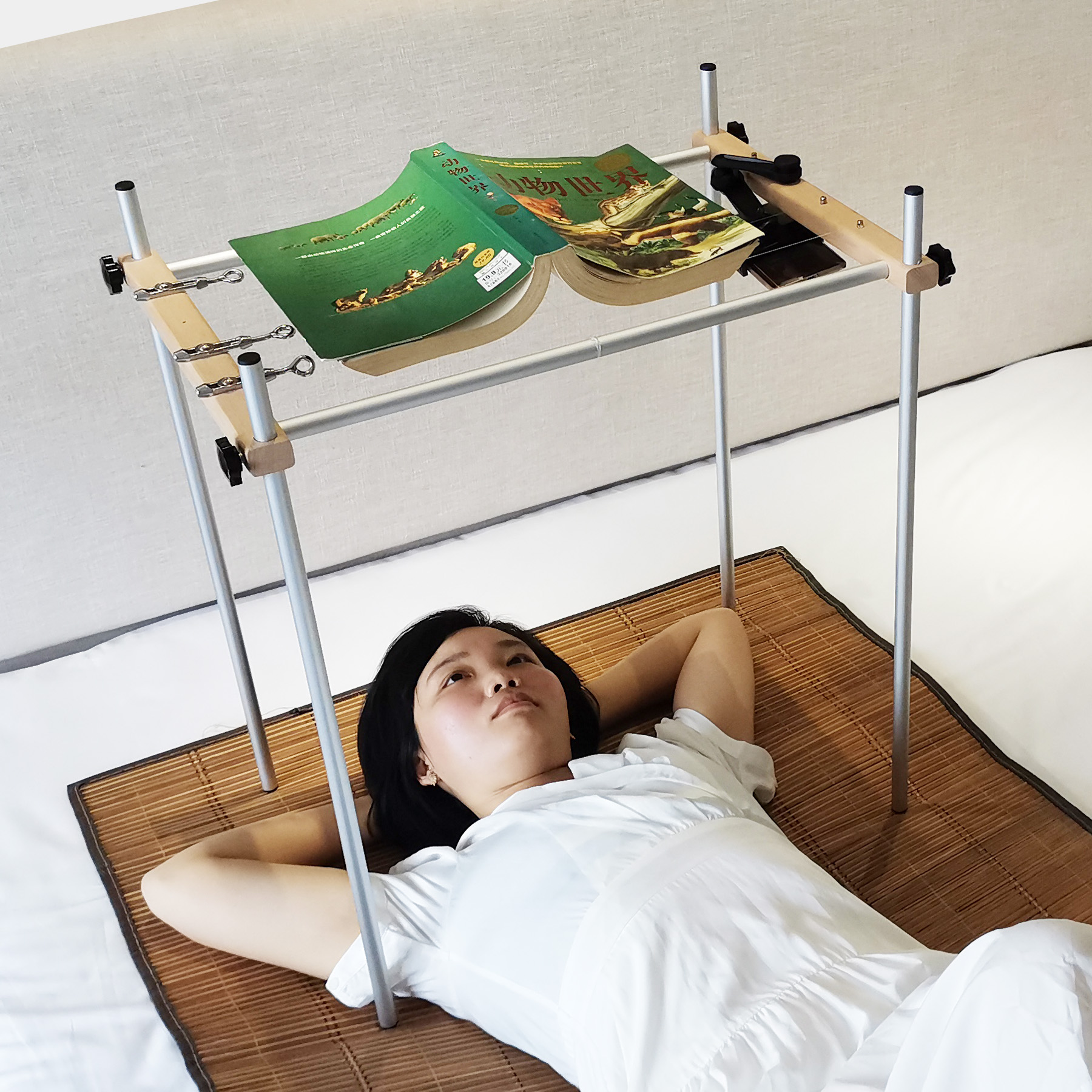 reading stand bed supine book stand lying down reading book rests book holders bracket for ipad tablet stand lazy person