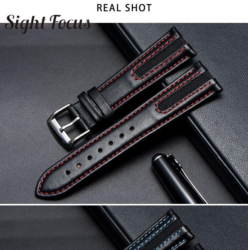 21mm ponto vermelho pulseiras de relógio para