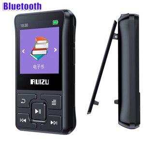 Image 2 - latest Original RUIZU X55 Sport Bluetooth MP3 Player 8gb Clip Mini with Screen Support FM,Recording,E Book,Clock,Pedometer