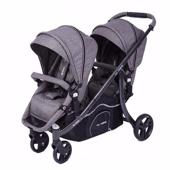 Twin Baby Stroller Light Folding Sitting and Lying Detachable Front Back of Summer Car for Two Children twins baby stroller sitting and lying portable baby carriage folding second child artifact double seat twin stroller for newborn