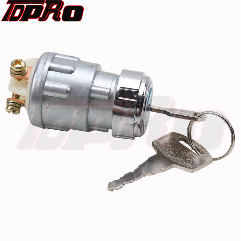 Motorcycle Ignition Key Starter Switch 2 Keys 3 Position Switch Barrel US For Honda Yamaha 200CC 250cc Motor Switch Replacement