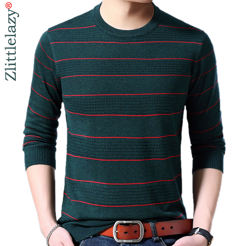 2019 Brand New Casual Thin Striped Knitted Pull Sweater Men Wear Jersey Dress Luxury Pullover Mens Sweaters Male Fashions 81012