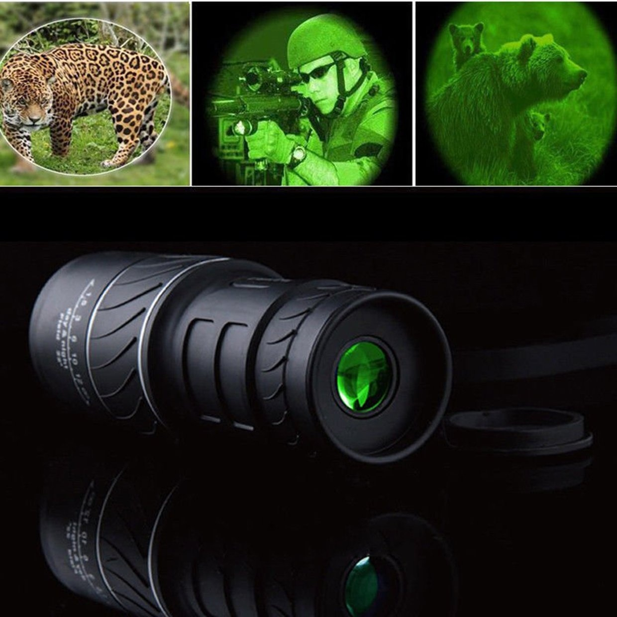 Day&Night Vision 40X60 HD Optical Monocular Hunting Camping Hiking Telescope Night Vision Scope