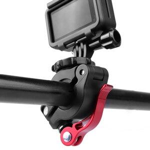 Image 3 - אופני אופניים קליפ אוניברסלי כידון מהדק סוגר חצובה הר לgopro 8 7 6 DJI אוסמו כיס אוסמו פעולה מצלמה
