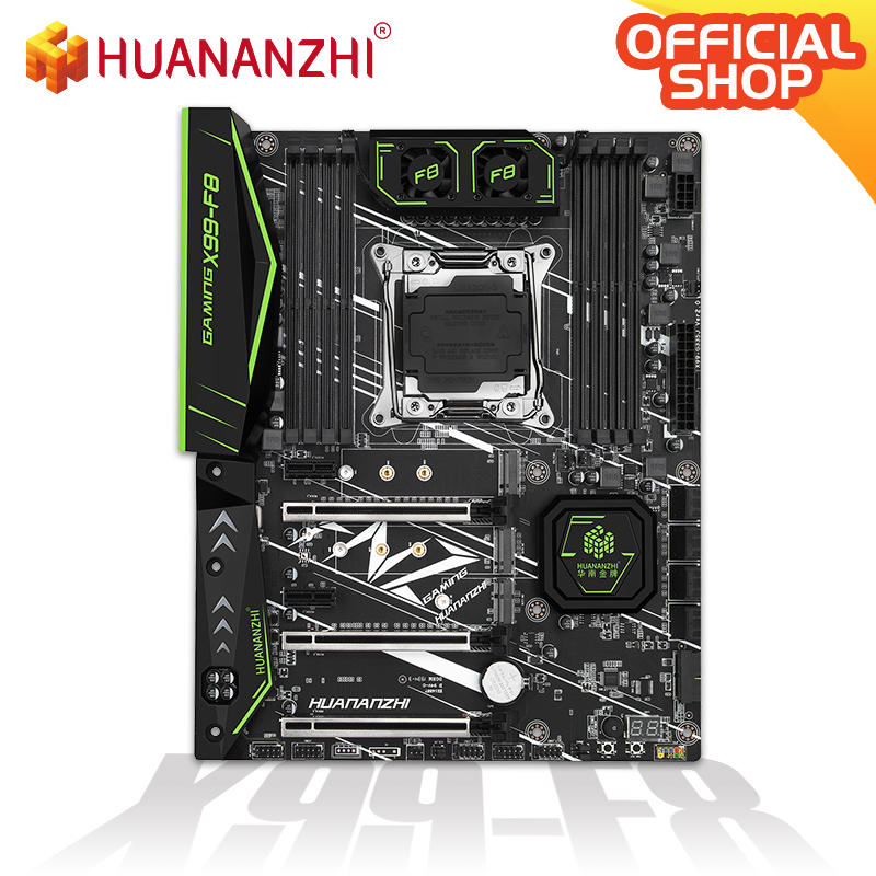HUANANZHI X99 F8 X99 Motherboard Intel XEON E5 LGA2011-3 All Series DDR4 RECC NON-ECC memory NVME USB3.0 ATX Server workstation 2
