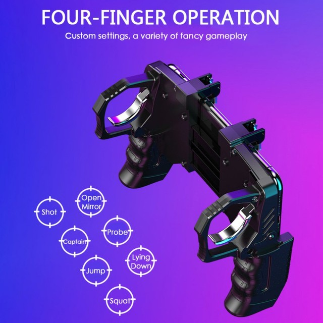 K21 Game Handle PUBG Mobile Phone Gamepad Joystick L1 R1 Trigger Game Shooter Controller For iPhone SamSung Xiaomi Phone 4