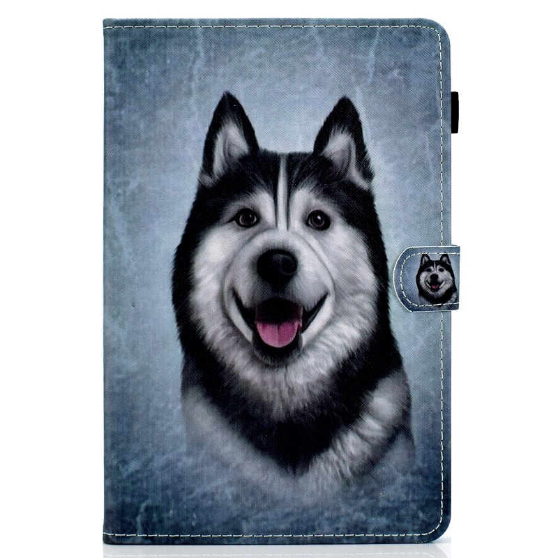 5 Black For New iPad 10 2 inch model A2197 Cover Painted Puppy Cat Unicorn Leather Book Stand