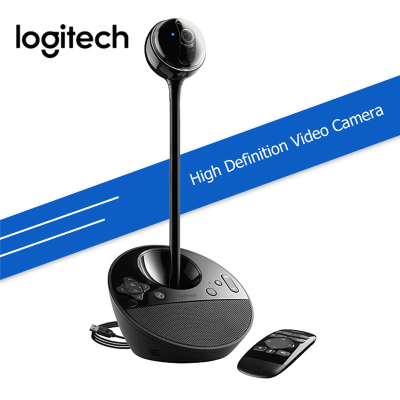Logitech BCC950 Webcam Business Conference FHD <font><b>1080P</b></font> <font><b>Web</b></font> Camera with Speakerphone USB / Remote Control Video <font><b>Cam</b></font> for Computer PC image