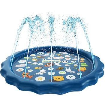 170cm dzieci zraszacz basen Pad Mat dzieci lato na zewnątrz wody Splash mata do zabawy trawnik nadmuchiwane zraszacz poduszka zabawka tanie i dobre opinie 6 lat Woda spaceru piłkę