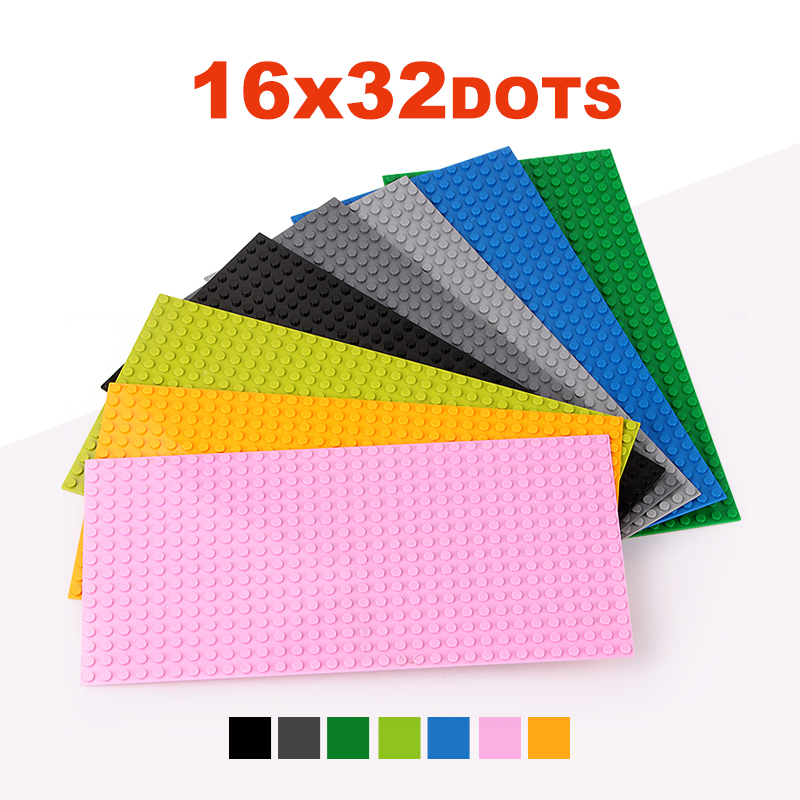 16*32 Dots Classic Base Plates Compatible LegoINGlys Baseplates City Dimensions Building Blocks Construction Toys For Children