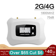 Smart Lcd Display Gsm 4G 1800 Mobiele Telefoon Signaal Repeater 1800 Mhz 4G Lte Cellulaire Signaal Booster Band 3 Versterker 70dB Gain